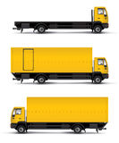 Truck car template. Illustration over white background Stock Images