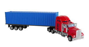 Truck with cargo container Stock Images