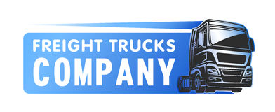 Truck cargo freight company logo template Stock Photography
