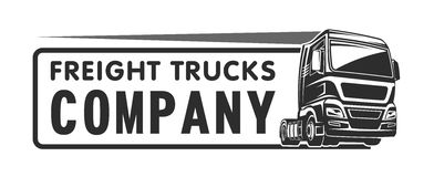 Truck cargo freight company logo template Stock Images