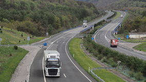 Truck cargo  on mountain higway Stock Images