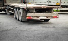 Truck cargo trailer on asphalt road Royalty Free Stock Photos