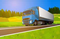 Truck cargo transportation Royalty Free Stock Photography