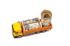 Truck caries a roll of US currency Royalty Free Stock Photo
