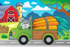 Truck with carrots theme image 2 Royalty Free Stock Photography