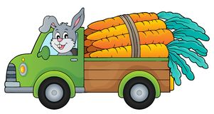 Truck with carrots theme image 1 Royalty Free Stock Photo