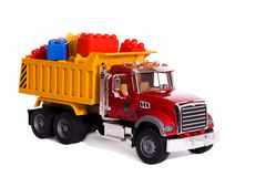Truck carrying blocks Royalty Free Stock Image