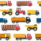 Truck Cars Seamless Pattern Background Vector Illustration Stock Photo