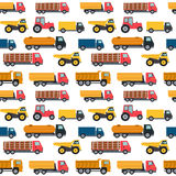 Truck Cars Seamless Pattern Background Vector Illustration Stock Photography