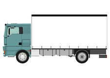 Truck. Cartoon heavy truck on white background. Vector Stock Photography