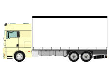 Truck. Cartoon heavy truck on white background. Vector Stock Images