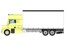 Truck. Cartoon heavy truck on white background. Vector Royalty Free Stock Images