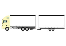 Truck. Cartoon heavy truck on white background. Vector Royalty Free Stock Photos