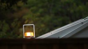 Truck caution light flashing stock footage