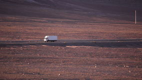 Truck on the chilean desert stock video footage
