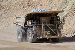 Truck at Chuquicamata, world's biggest open pit copper mine, Chile stock images