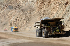 Truck at Chuquicamata, world's biggest open pit copper mine, Chile royalty free stock images