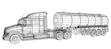Truck Cistern illustration. Vector. Tracing illustration of 3d. EPS 10 vector format.  vector illustration