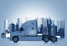 Truck and the City Royalty Free Stock Images