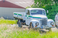 Truck, classic car,  Barkas V 901/2;. Essen, Nrw, Germany - June 13, 2014: In Essen way towards Mülheim Airport. Old truck parked on the street, to advertising Royalty Free Stock Photography