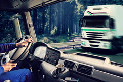 Truck cockpit Royalty Free Stock Photos