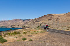 Truck by the Columbia River Stock Image