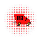 Truck comics icon. On a white background Royalty Free Stock Photography