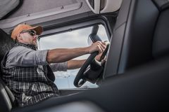 Truck Commercial Driver stock images