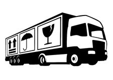 Truck Company Firmanaam Royalty-vrije Stock Foto's
