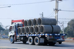 Truck for Concrete Pipe of Piboon Concrete. Royalty Free Stock Photo