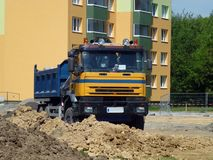 Truck on a construction site Royalty Free Stock Photography