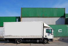 Truck and container Royalty Free Stock Photo