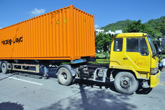 Truck with container Royalty Free Stock Photography