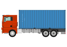 Truck with container. Stock Photos