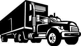 Truck with container van Royalty Free Stock Images
