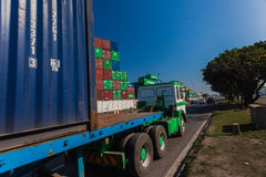 Truck Containers Transport Royalty Free Stock Images