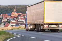 Truck a country road Stock Images