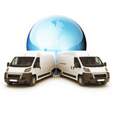 Truck Courier World wide concept Royalty Free Stock Image