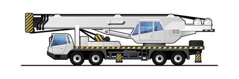 Truck crane royalty free illustration