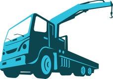 Truck Crane Cartage Hoist Retro Stock Photo