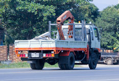 Truck with crane. CHIANGMAI, THAILAND - DECEMBER  8 2014: Private Truck with crane.  Photo at road no.121 about 8 km from downtown Chiangmai, thailand Stock Images