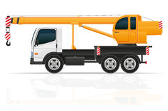 Truck crane for construction vector illustration. Isolated on white background Royalty Free Stock Photo