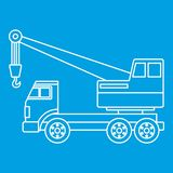 Truck crane icon outline Stock Photography