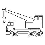 Truck crane icon outline Royalty Free Stock Photo
