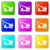 Truck crane set 9 Stock Photos