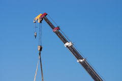 Truck crane to Used Royalty Free Stock Images
