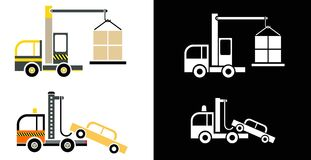 Truck Crane and Tow Truck Royalty Free Stock Photo