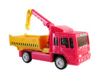 Truck with crane toy Royalty Free Stock Photo