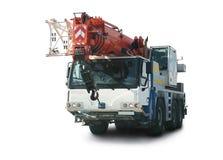 Truck crane on white background Royalty Free Stock Photos