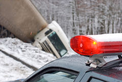 Truck crash Stock Photography